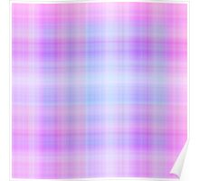 Lilac-Rose Plaid Poster