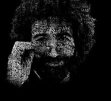 "Jerry Garcia ""Dark Star"" Text Image - Grateful Dead by OnePeaceTees"
