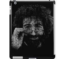 "Jerry Garcia ""Dark Star"" Text Image - Grateful Dead iPad Case/Skin"