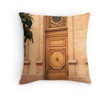 Another Door in Avignon Throw Pillow
