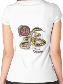 Year of the Snake - Dark Background Women's Fitted Scoop T-Shirt