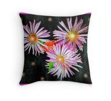 Delightful Flowers Throw Pillow