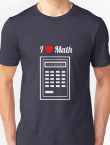 Calculator: I Heart Math Unisex T-Shirt