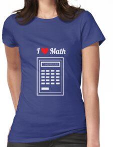 Calculator: I Heart Math Womens Fitted T-Shirt