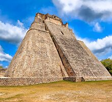 Ancient Mayan Pyramid Ruins At Uxmal In Mexico by Mark Tisdale