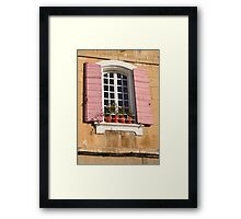 A Shuttered Window in Arles Framed Print