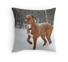 Where is that squirrel?? Throw Pillow