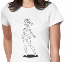 Skirt & Pigtails Womens Fitted T-Shirt