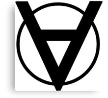 Voluntaryist hero shirt with back symbol geek funny nerd Canvas Print