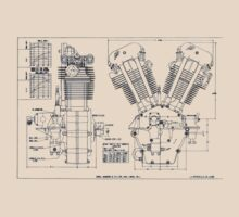 Mark 1 J.A.P.v twin engine. T-shirt etc..... by Timothy Beighton