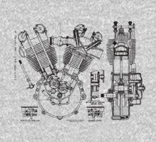 1924 J.A.P. v twin engine T-Shirt etc..... by Timothy Beighton