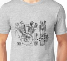 1924 J.A.P. v twin engine T-Shirt etc..... Unisex T-Shirt