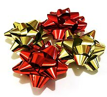 Red and gold bows by Jon Tait