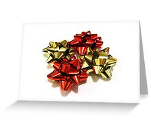 Red and gold bows Greeting Card