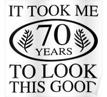 Funny 70th Birthday Poster