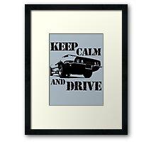 keep calm and drive Framed Print