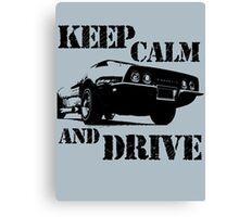 keep calm and drive Canvas Print