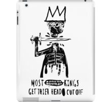 King Cut TXT WHT iPad Case/Skin