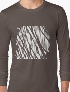 Geometric vector abstraction in maroon Long Sleeve T-Shirt