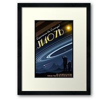Space Travel Poster J1407b Framed Print