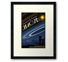 Space Travel Poster J1407b Framed Print