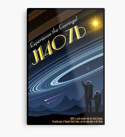 Space Travel Poster J1407b Metal Print