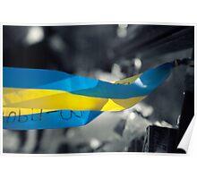 The Flag of Ukraine Poster