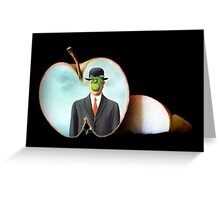 The Apple/René Magritte Greeting Card