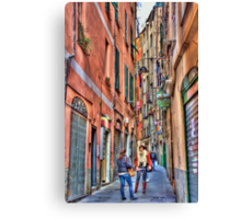alleys of Genoa Canvas Print