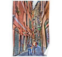alleys of Genoa Poster