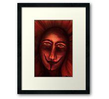 Red Untitled Framed Print