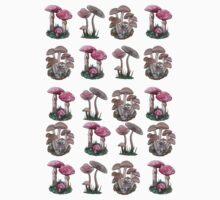 Multiple Mushrooms  Baby Tee