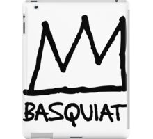 Basquiat Crown BLK iPad Case/Skin