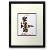 professor wimbly: the victim... or the murderer? (flip edition) Framed Print