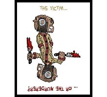 professor wimbly: the victim... or the murderer? (flip edition) Photographic Print