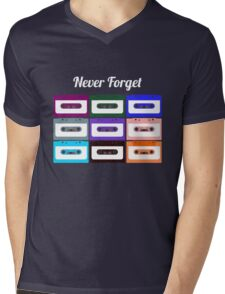 Retro Cassette Tape -  Mens V-Neck T-Shirt