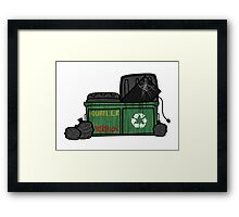 Tv trash Framed Print