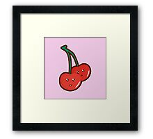 Kawaii Cherry Framed Print