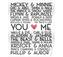 Disney Couples + You & Me Poster