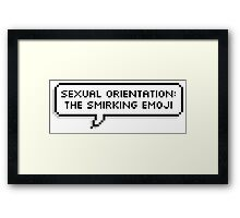 Sexual Orientation: Smirking Emoji Framed Print