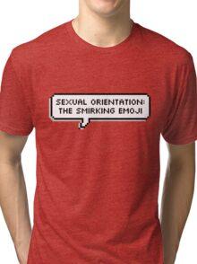 Sexual Orientation: Smirking Emoji Tri-blend T-Shirt