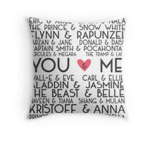 Disney Couples + You & Me Throw Pillow