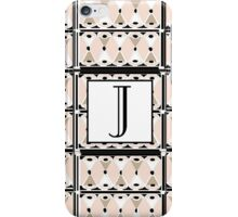 1920s Pink Champagne Gatsby Monogram letter J iPhone Case/Skin