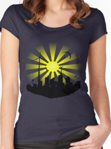 Windmill City 2 Women's Fitted Scoop T-Shirt