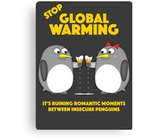 Global warming is ruining romantic moments Canvas Print