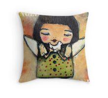 Noel Noel Xmas Angel Throw Pillow