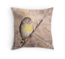 Lawrence's Goldfinch Throw Pillow