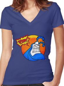 the tick- spoon Women's Fitted V-Neck T-Shirt