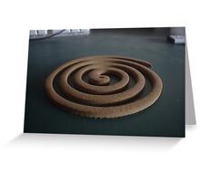 Mozzie coil Greeting Card