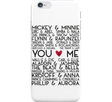 Disney Couples + You & Me iPhone Case/Skin